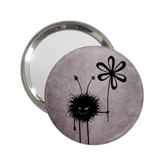 Evil Flower Bug Vintage Handbag Mirror (2 25 )