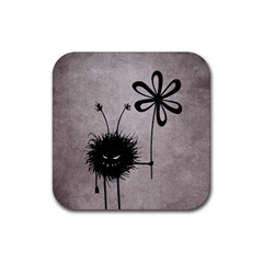 Evil Flower Bug Vintage Drink Coaster (square) by CreaturesStore