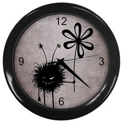 Evil Flower Bug Vintage Wall Clock (black)