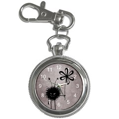 Evil Flower Bug Vintage Key Chain Watch