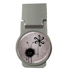 Evil Flower Bug Vintage Money Clip (round)