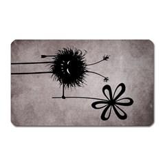 Evil Flower Bug Vintage Magnet (rectangular) by CreaturesStore