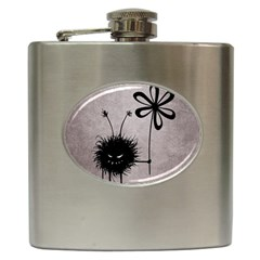 Evil Flower Bug Vintage Hip Flask by CreaturesStore
