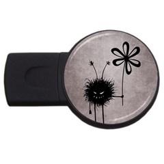 Evil Flower Bug Vintage 2gb Usb Flash Drive (round)