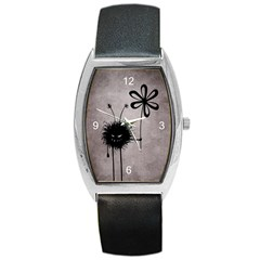 Evil Flower Bug Vintage Tonneau Leather Watch