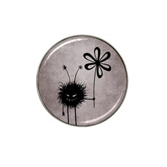 Evil Flower Bug Vintage Golf Ball Marker 4 Pack (for Hat Clip) by CreaturesStore