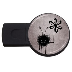 Evil Flower Bug Vintage 4gb Usb Flash Drive (round)