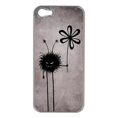 Evil Flower Bug Vintage Apple Iphone 5 Case (silver) by CreaturesStore