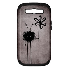 Evil Flower Bug Vintage Samsung Galaxy S III Hardshell Case (PC+Silicone) by CreaturesStore