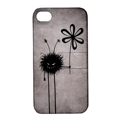 Evil Flower Bug Vintage Apple Iphone 4/4s Hardshell Case With Stand