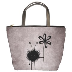 Evil Flower Bug Vintage Bucket Handbag