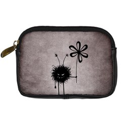 Evil Flower Bug Vintage Digital Camera Leather Case