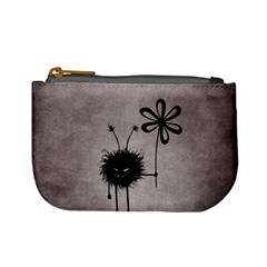 Evil Flower Bug Vintage Coin Change Purse