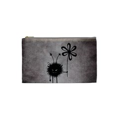 Evil Flower Bug Vintage Cosmetic Bag (small) by CreaturesStore