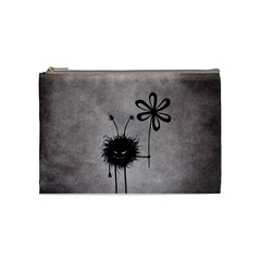 Evil Flower Bug Vintage Cosmetic Bag (medium) by CreaturesStore