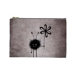 Evil Flower Bug Vintage Cosmetic Bag (large) by CreaturesStore