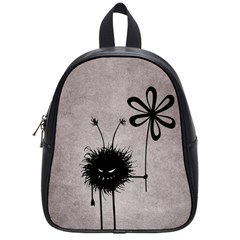 Evil Flower Bug Vintage School Bag (small) by CreaturesStore