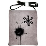 Evil Flower Bug Vintage Shoulder Sling Bag Front