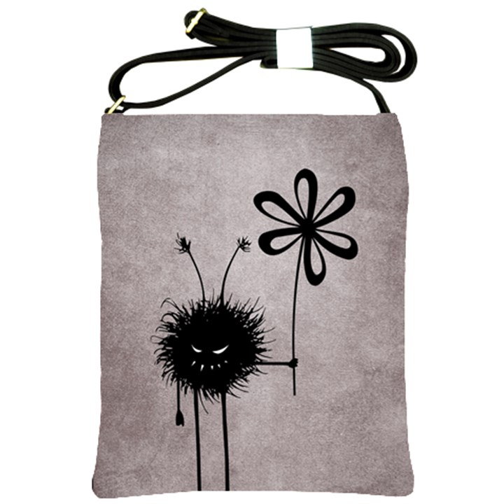 Evil Flower Bug Vintage Shoulder Sling Bag