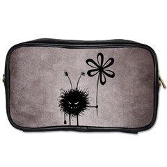 Evil Flower Bug Vintage Travel Toiletry Bag (one Side) by CreaturesStore