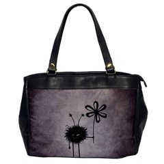 Evil Flower Bug Vintage Oversize Office Handbag (one Side)