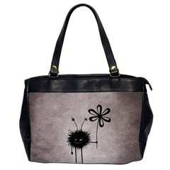 Evil Flower Bug Vintage Oversize Office Handbag (two Sides)