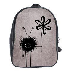 Evil Flower Bug Vintage School Bag (xl) by CreaturesStore