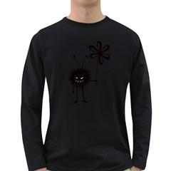 Evil Flower Bug Men s Long Sleeve T Shirt (dark Colored)
