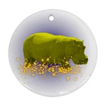 Hippo Sparkle Ornament (Round)