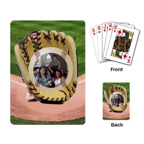 Baseball Playing Cards By Kim Blair   Playing Cards Single Design   X03c3mltvgpb   Www Artscow Com Back