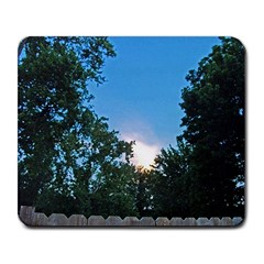 Coming Sunset Accented Edges Large Mouse Pad (rectangle) by Majesticmountain