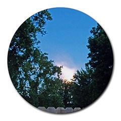 Coming Sunset Accented Edges 8  Mouse Pad (round)