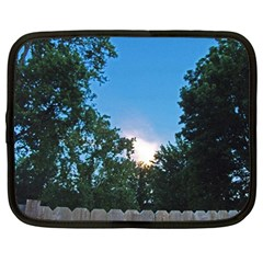 Coming Sunset Accented Edges Netbook Sleeve (xxl) by Majesticmountain