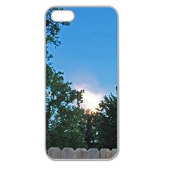 Coming Sunset Accented Edges Apple Seamless Iphone 5 Case (clear) by Majesticmountain