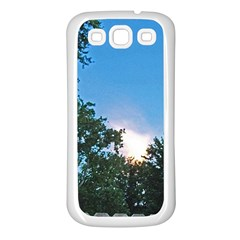 Coming Sunset Accented Edges Samsung Galaxy S3 Back Case (white) by Majesticmountain