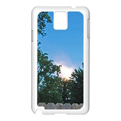 Coming Sunset Accented Edges Samsung Galaxy Note 3 N9005 Case (white) by Majesticmountain