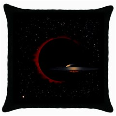 Altair Iv Black Throw Pillow Case by neetorama