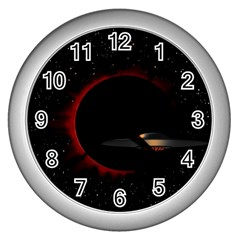 Altair Iv Wall Clock (silver) by neetorama