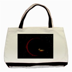 Altair Iv Twin Sided Black Tote Bag by neetorama