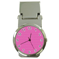 Pink Kaleidoscope Money Clip With Watch by Khoncepts