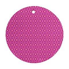 Pink Kaleidoscope Round Ornament (two Sides) by Khoncepts