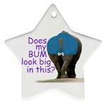 Rhino  Bum  Ornament (Star)