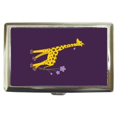 Purple Roller Skating Cute Cartoon Giraffe Cigarette Money Case by CreaturesStore