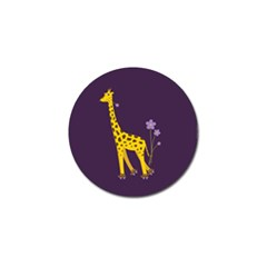 Purple Roller Skating Cute Cartoon Giraffe Golf Ball Marker by CreaturesStore