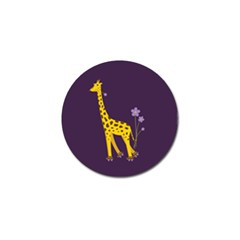 Purple Roller Skating Cute Cartoon Giraffe Golf Ball Marker 10 Pack