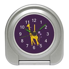 Purple Roller Skating Cute Cartoon Giraffe Desk Alarm Clock by CreaturesStore