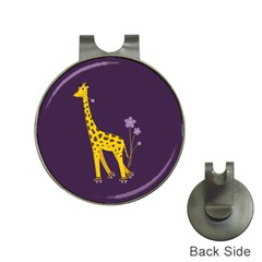 Purple Roller Skating Cute Cartoon Giraffe Hat Clip With Golf Ball Marker by CreaturesStore