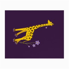 Purple Roller Skating Cute Cartoon Giraffe Glasses Cloth (small) by CreaturesStore