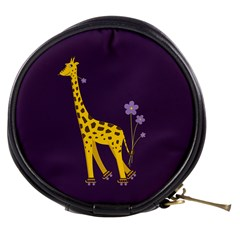 Purple Roller Skating Cute Cartoon Giraffe Mini Makeup Case