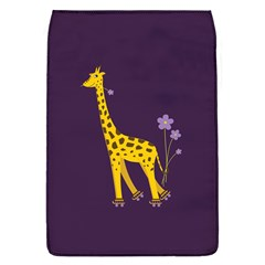 Purple Roller Skating Cute Cartoon Giraffe Removable Flap Cover (large) by CreaturesStore